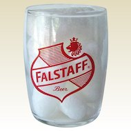 Falstaff Barrel Beer Glass / Shorty 5 oz Beer Glass