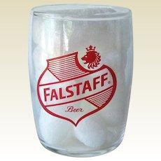 Falstaff Barrel Beer Glass / Shorty 5 oz Beer Glass