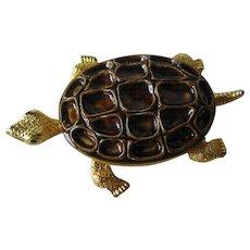 Mandle Turtle Pin / Large Turtle Pin / Designer Pin / Fashion Jewelry