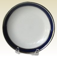 American Airlines Cobalt and Platinum Butter Pat / Extra Large Butter Pat /  First Class International Service China