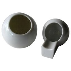 Mid Century Modern Czechoslovakia Match Holder Ashtray / Czech Porcelain