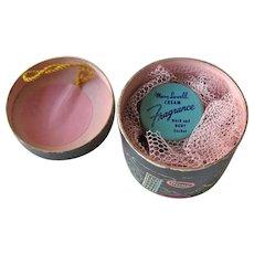 Miniature Hat Box Sachet Holder / Mary Lowell Cream Fragrance