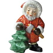 Vintage Goebel Santa Cutting Down the Tree / Goebel West Germany / Christmas Decor / Goebel Collectible