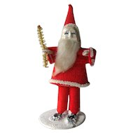 Vintage Standing Santa 1940s / Felt Santa / Holiday Home Decor / Holiday Decoration / Holiday Figurine