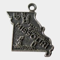 Vintage Missouri  Sterling State Charm / Sterling Silver Charm