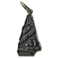 Vintage New Hampshire Sterling State Charm / Sterling Silver Charm