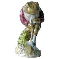 Mr. Jeremy Fisher Digging Figurine / Beatrix Potter Figurine / Frog Figurine