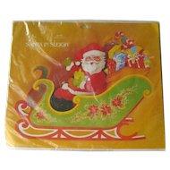 Santa in Sleigh Centerpiece / Perola Denmark / Three Dimensional Sleigh / Vintage Christmas Decor / Collectible Christmas