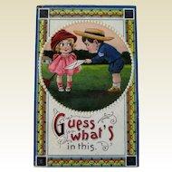 Valentine Postcard  / Unsigned Clapsaddle / Google Eyed Kids Postcard / Vintage Postcard  / Ephemera