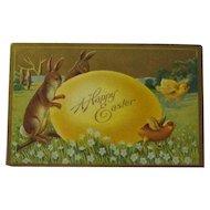 Winsch Easter Postcard / Bunnies Chicks and Egg Postcard / Collectible Postcard / Ephemera