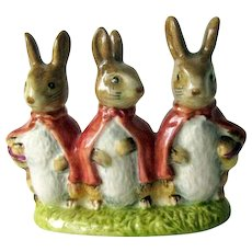 Beatrix Potter Flopsy, Mopsy and Cottontail Beswick Figurine