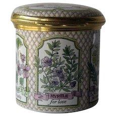 Halcyon Days Enamel Rosemary for Remembrance Trinket Dresser Box