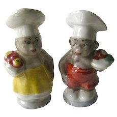 Black Americana Chefs Pepper Shakers / Japan Salt and Pepper Shakers / Figural Shakers / Collectible Shakers