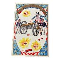 Uncle Sam Fourth of July Postcard / Patriotic Postcard / 4th of July Postcard