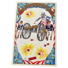 Uncle Sam Fourth of July Postcard / Patriotic Postcard / 4th of July Postcard