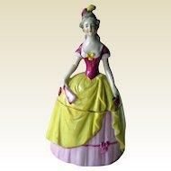 Exceptional German Lady Powder Box - Dresser Box -  Trinket Box - German Porcelain