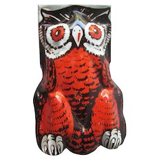 Owl Halloween Clicker Noisemaker / Owl Clicker / Vintage Halloween / Halloween Decor