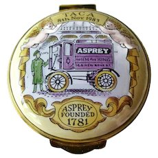 Crummles England Enamel Box / Asprey England / Vintage Box / Home Decor / Vintage Enamel Box
