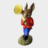Royal Doulton Sousaphone Player Bunnykins / Bunnykins Figurine DB23 / Oompah Band / Porcelain Bunny Figure