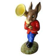 Royal Doulton Sousaphone Player Bunnykins / Bunnykins Figurine DB23 / Oompah Band / Porcelain Bunny Figure