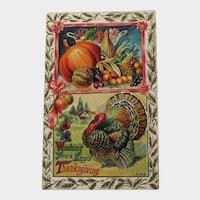 Exceptional Winsch Thanksgiving Postcard - Vintage Postcard - Collectible Thanksgiving