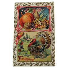 Exceptional Winsch Thanksgiving Postcard - Vintage Postcard - Collectible Thanksgiving