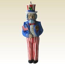 Vintage Nutcracker Ornament - Uncle Sam - Uncle Sam Nutcracker Ornament - 1988 Hallmark Ornament - - Vintage Hallmark Ornament