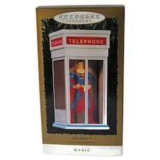 Superman Light and Motion Magic Tree Ornament