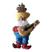 Santa's Serenade Ornament - Hallmark Santa Ornament - Owl Nodder - Vintage Christmas - Home Decor - Collectible Hallmark Ornament