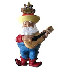 Santa's Serenade Ornament - Hallmark Santa Ornament - Owl Nodder - Vintage Christmas - Home Decor - Collectible Hallmark Ornament