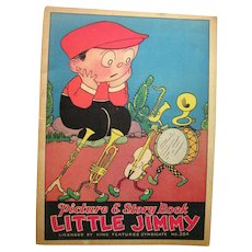 Rare Picture & Story Book Little Jimmy by King Features