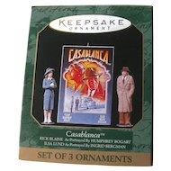 Casablanca Miniature Hallmark Christmas Ornament Set