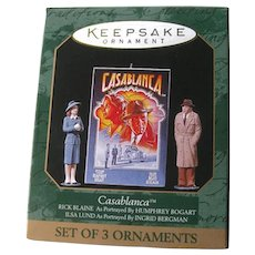Casablanca Miniature Hallmark Christmas Ornament Set