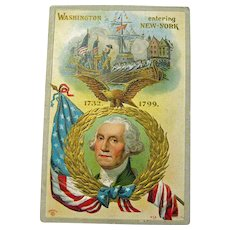 George Washington Entering New York Postcard