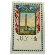 Bunker Hill Fourth of July Postcard