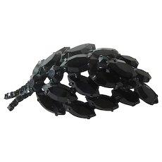 Elegant Black Rhinestone Pin