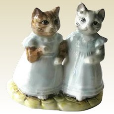 Mittens and Moppet Beatrix Potter  Figurine with Royal Albert Mark