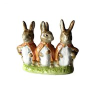 Beatrix Potter Figurine Flopsy Mopsy and Cotton Tail