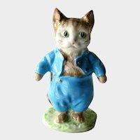 Tom Kitten Beatrix Potter Figurine Beswick Gold Backstamp