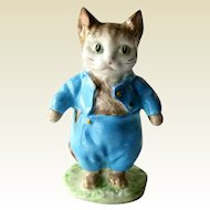 Tom Kitten Beatrix Potter Figurine Beswick Gold Backstamp