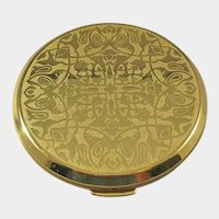Lovely Gold-tone Compact Unused