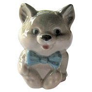Russian Collectible Cat Figurine - Porcelain Cat