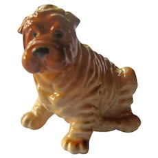 Russian Porcelain Shar-Pei Dog Figurine - Collectible Figurine