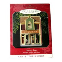 Grocery Store Ornament - Hallmark Nostalgic Houses and Shops Collector's Series