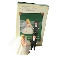 Hallmark Miniature Bride Groom - Rosette Dreams - Madame Alexander Dolls - Collectible Miniatures - Bridal Shower