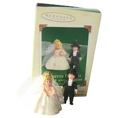 Hallmark Miniature Bride Groom - Rosette Dreams - Madame Alexander Dolls - Collectible Miniatures - Bridal Shower