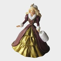 Barbie Hallmark Ornament - Barbie Holiday Collectors Series - Handcrafted 1996 Ornament - Collectible Barbie