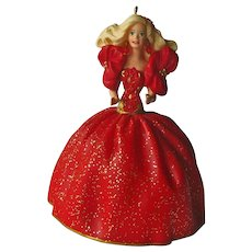 Barbie Hallmark Ornament - Collectors Series - 1993 Barbie Ornament - Vintage Barbie - First Edition