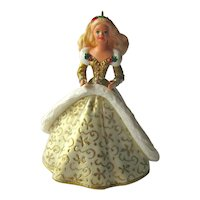 Barbie Hallmark Ornament - Barbie Holiday Collectors Series - Handcrafted 1994 Ornament - Collectible Barbie