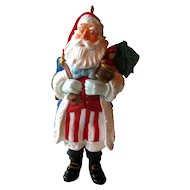 Merry Olde Santa Hallmark Ornament - Hallmark Santa Series - USA Santa - Vintage Santa - Holiday Decor